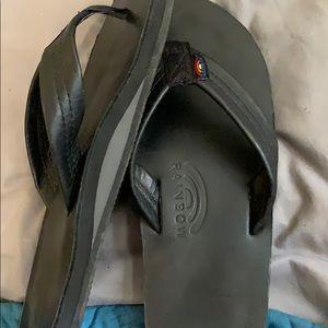 Black Rainbow Flip Flops size 8